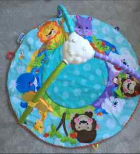 Colorful infant play mat.