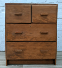Vintage Chest Of Four Drawers (DELIVERY AVAILABLE)
