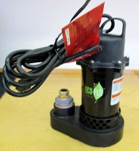Eco-Flo ½ HP Submersible Sump Pump - Like New 9 Months Warranty