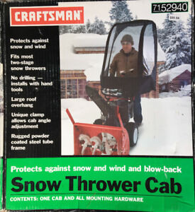 SNOW BLOWER THROWER CAB COVER BRAND NEW