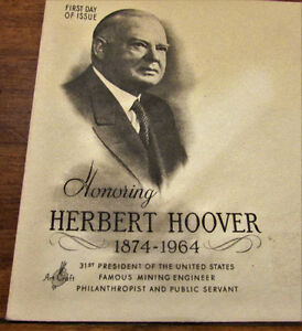 1965 Herbert Hoover 5 Cent First Day Cover Kitchener / Waterloo Kitchener Area image 4
