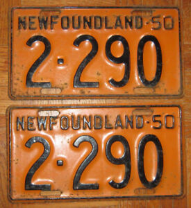 Wanted Nfld License Plates