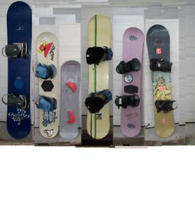 6 Snowboards              (155, 130, 105, 155,138, 152 cm )