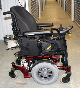 Electric Mid-Wheel Drive Wheelchair Quickie Xperience Candy Red