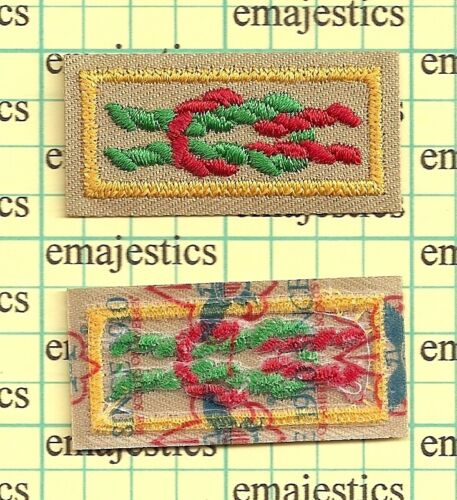 BSA CUB PACK ARROW OF LIGHT AWARD SQUARE KNOT MINT PATCH CURRENT SINCE 1910 BACK