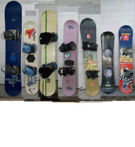 7 Snowboards package (155, 130, 155,138, 152, cm ) / Planche