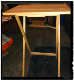 Pine Fold up table for meals /writing ect