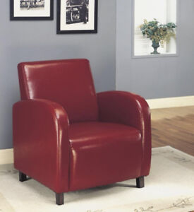 Brand New in Box Monarch Specialties Leather CHAIR RED