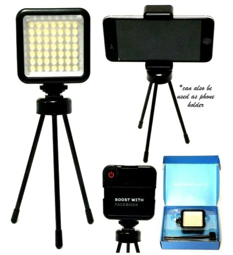 8 in Dimmable 5M Light Distance 800Lm LED Video Light with Multi Function Holder
