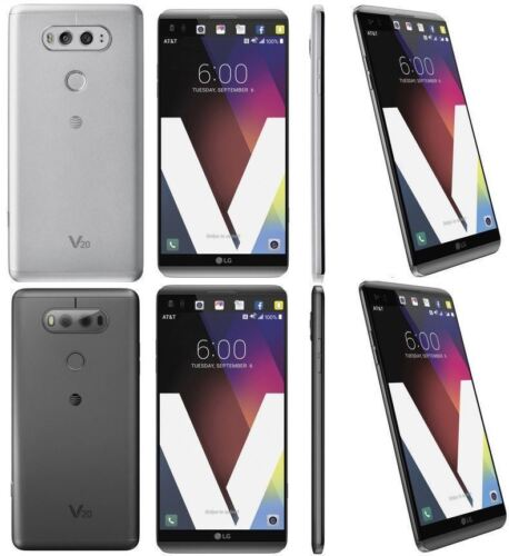 "LG V20 H910 FOR AT&T SILVER GRAY 4G LTE 64GB 16MP 5.7"" 4GB RAM SMARTPHONE"