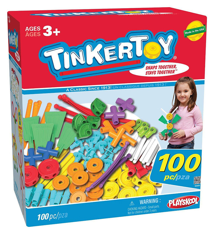 TinkerToy 100 Piece Essentials Building Set
