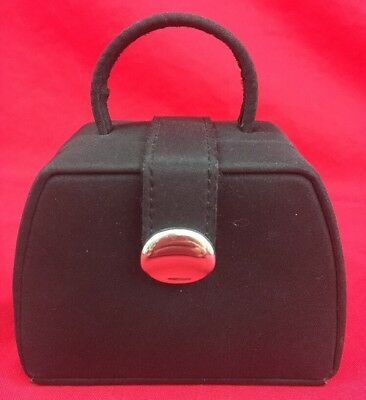 Little Black Travel Case - Little Black Purse Jewelry Case Rings Necklaces Jewelry Organizer Travel Case