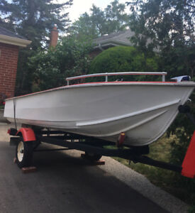 14 Ft Aluminium Boat with Trailer  Starcraft  Springbok