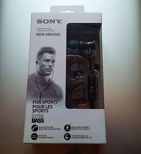 Écouteurs Sony MDR-XB510AS Extra Bass pour le sport – Neuf