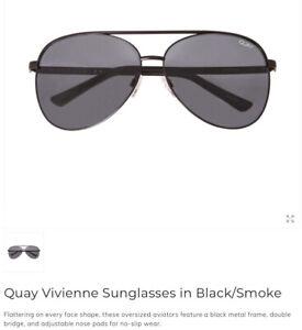 578dcb7d90f30 Quay Vivienne Australia Aviators Sunglasses -Brand New!