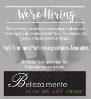 Nail Technician/Esthetician WANTED!!!!!