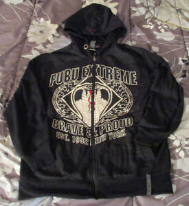 Fubu Extreme Collection Men's Large Hoodie ~ Brave & Proud