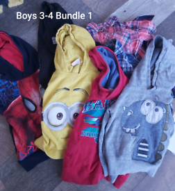 Boys 3-4 years clothes bundle 57 items. (Bundle 1)