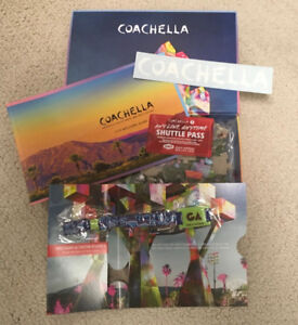 2 TICKETS- WEEKEND 1 COACHELLA (shuttle passes included)