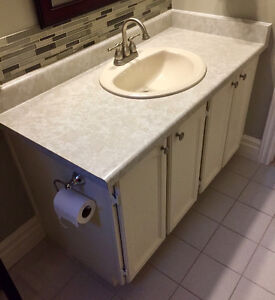 Bathroom vanity with sink and tap - BURLINGTON