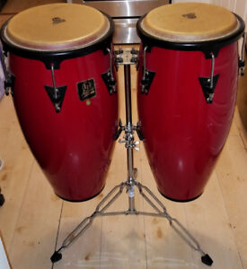 Nice Congas! Pair of LP Aspire Congas with Double-braced Stand!