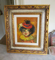 Vintage French (Paris) Oil Painting - Young Girl - Artist Dupont