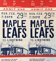 Leafs vs. Lightning First-Row Reds