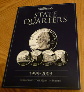 Warman's Collector's State Quarters Folder 1999-2009-for 60coins