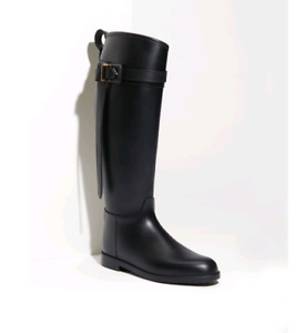 Burberry Rubber Riding Boot Size 38