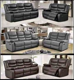 Designer leather ROMA sofa