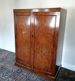 Old antique mahogany wardrobe