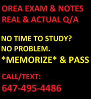 OREA EXAM NOTES. APPRAISAL & PROPERTY LAW EXAM - WORD TO WORD