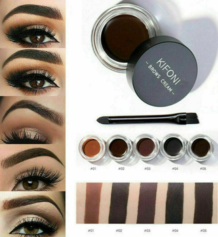 5 Colors Eyebrow Cream Tint Pomade Waterproof Gel Enhancer E