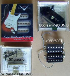 Fender Strat-Gibson Les Paul Pickups - pick guards