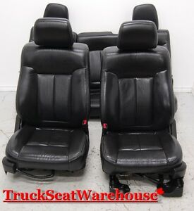 Ford F150 2011 Black Leather Power Heated front and rear seats