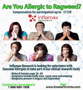 Ragweed Allergy Research Study