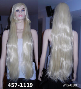 NEW 100 cm Long Deluxe Platinum Blonde Cosplay Wig (457-1119)