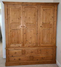 Solid Pine wardrobe and drawers