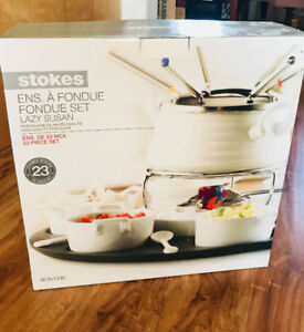 Stokes Fondue Set (on lazy susan)