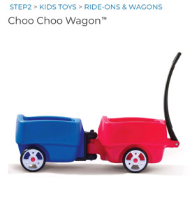 STEP 2 Choo choo wagon and tag along trailer