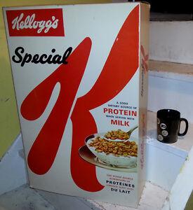 1967 MASSIVE STORE DISPLAY KELLOGGS CEREAL BOX