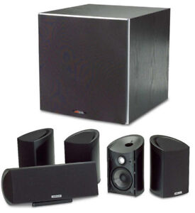 Polk Audio 5.1 RM101 RM201 PSW10 Front Surrounds Center Sub