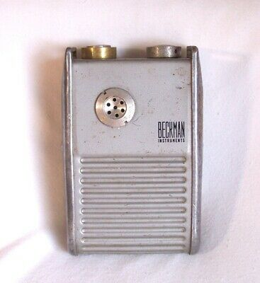 Vintage Beckman Radiation Radium Detector Mx-7b Geiger Counter Belt Worn