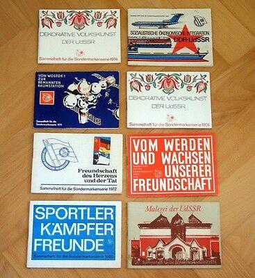 8x Sammelheft Sondermarkenserie Deutsch Sowjetische Freundschaft DDR