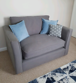 HARRY SNUGGLER BY SOFA WORKSHOP RRP £1200 Charcoal Grey Fabric