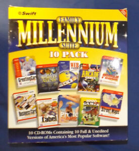 Family Millennium Suite 10 Pack PC CD-ROM Games & Programs Boxed