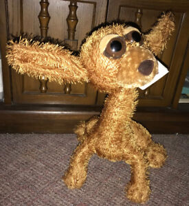 Chihuahua Twisted Whiskers Buster Plush Puppy Dog Posable Brown