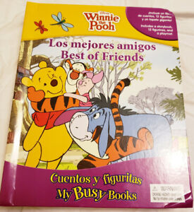 Brand New Winnie the Pooh book with Figurines- $10