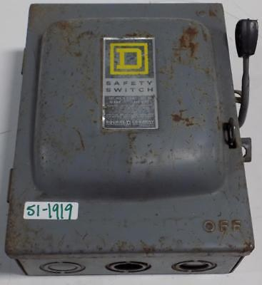 Square D 30amp 240vac Safety Switch