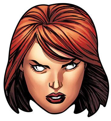 Black Widow Marvel Avengers Kostüm (Official Black Widow Marvel The Avengers Card Party Face Masks Mask - Super Hero)